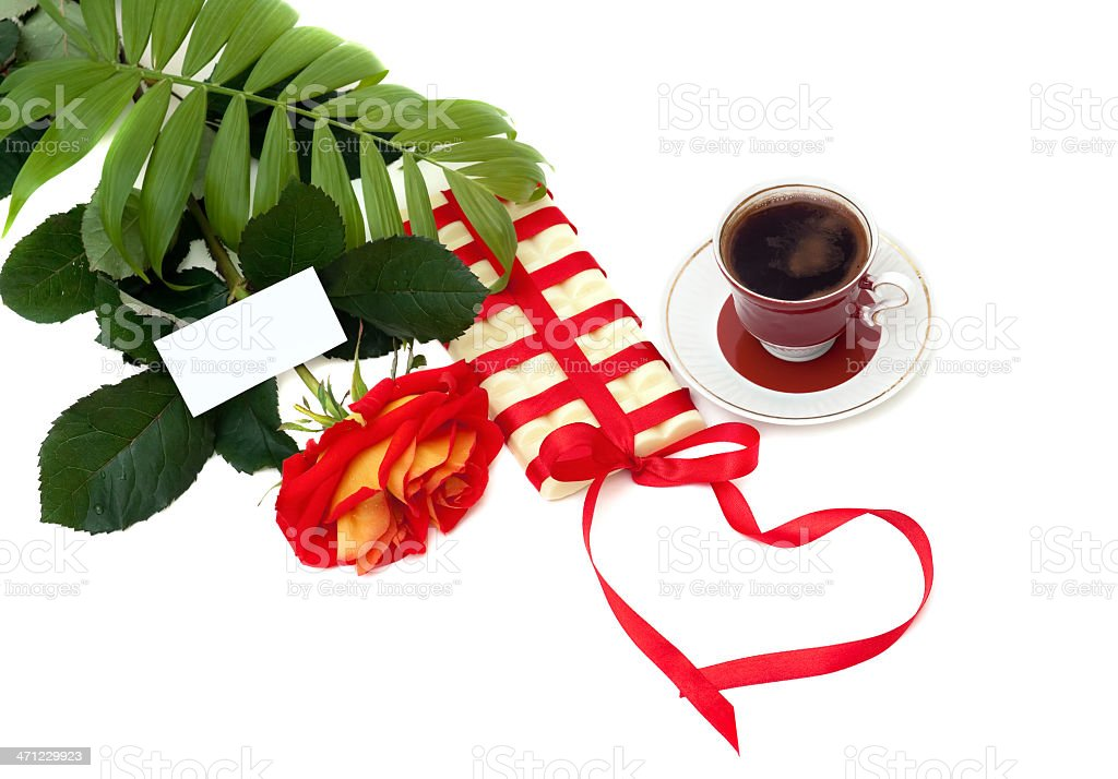sweet gift with love royalty-free stock photo