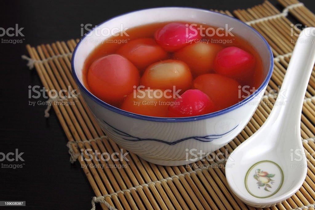 Sweet Glutinous Rice Dumpling stock photo