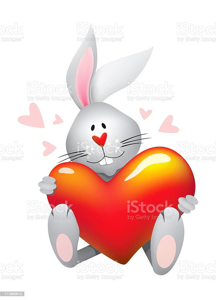 Sweet heart bunny royalty-free stock photo