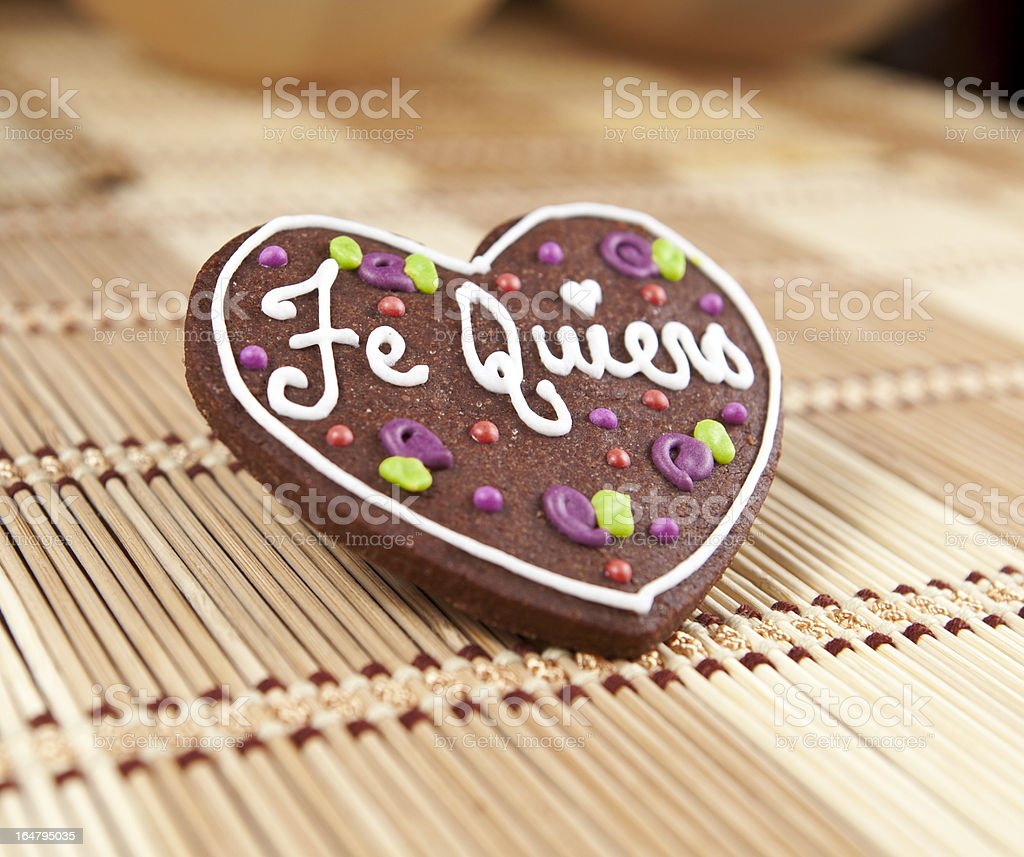 Sweet heart cookie royalty-free stock photo