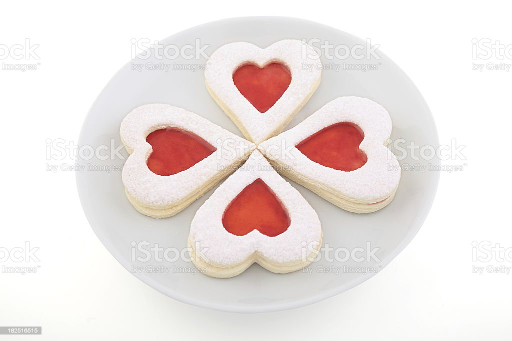Sweet Heart Cookies stock photo