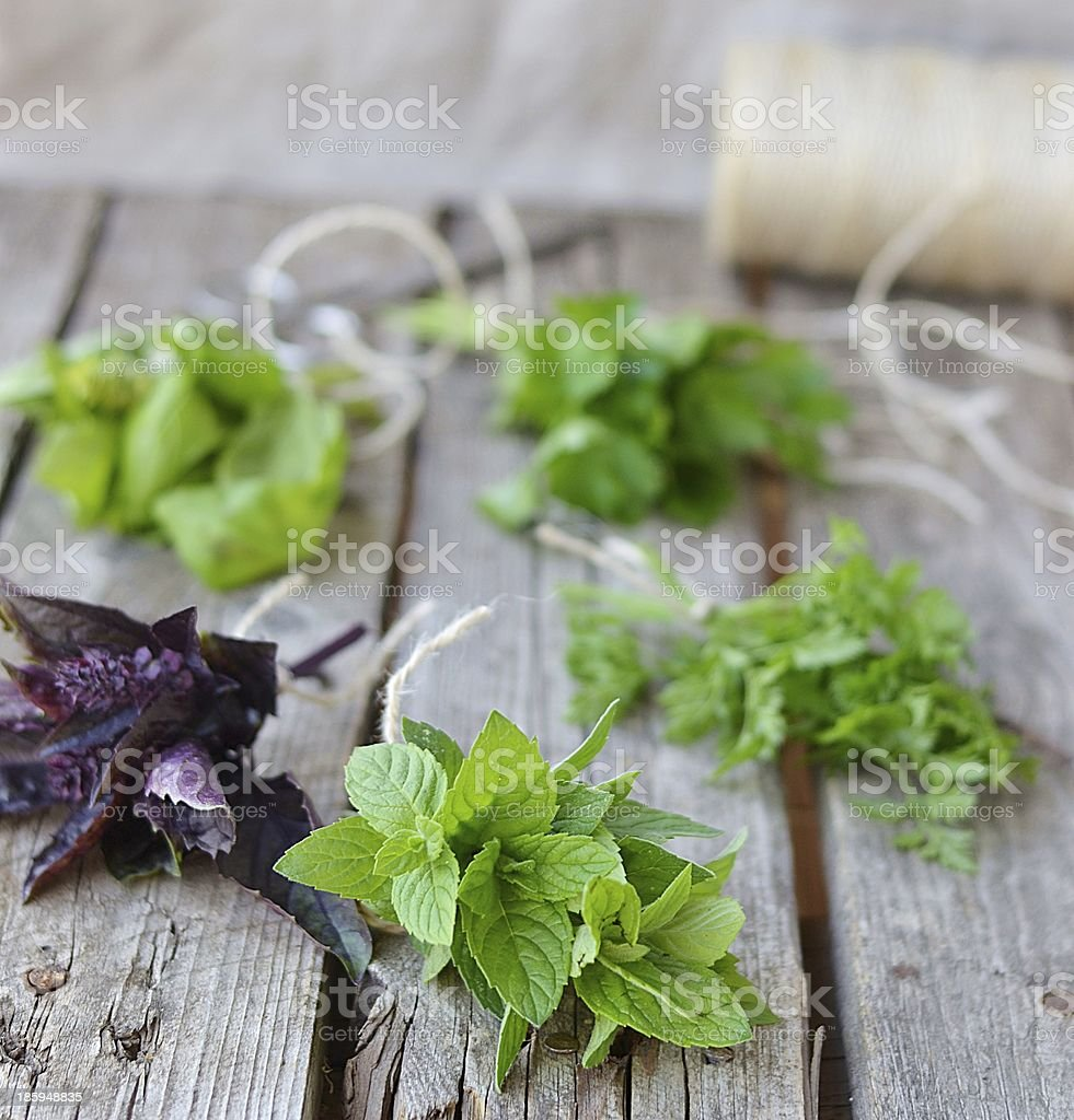 sweet herbs royalty-free stock photo