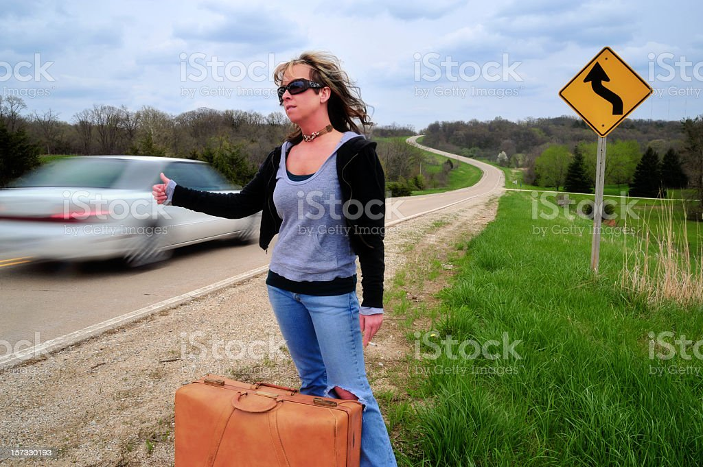 Sweet Hitchhiker stock photo