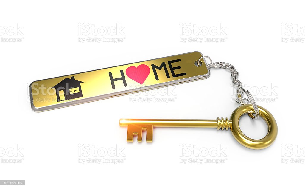Sweet home key concept stock photo