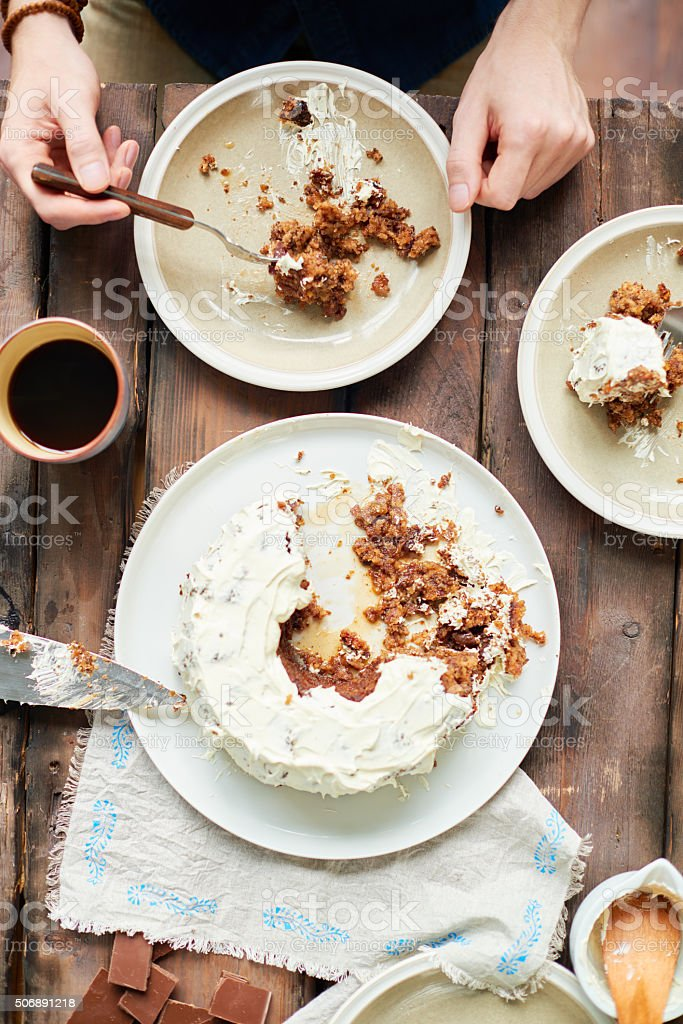 Sweet homemade pie stock photo