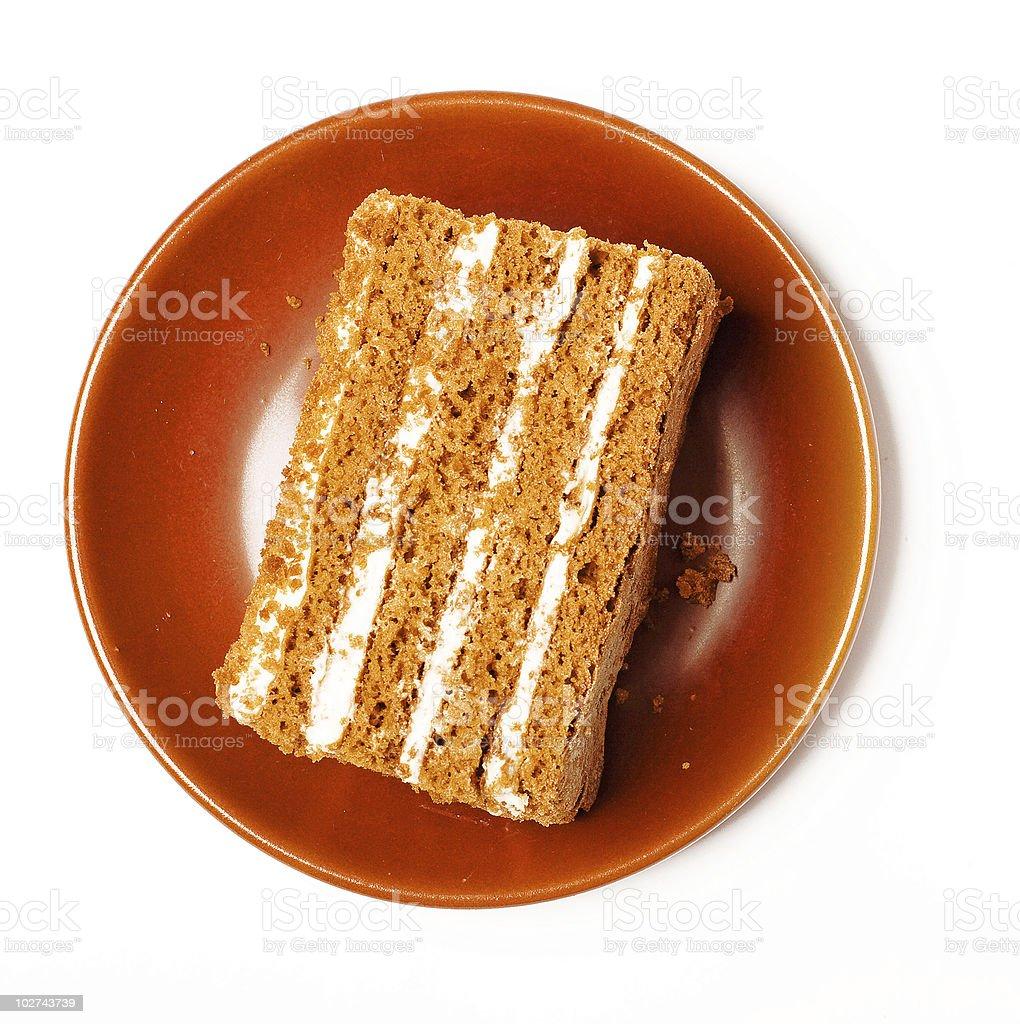 Dulce pastel de miel. foto de stock libre de derechos