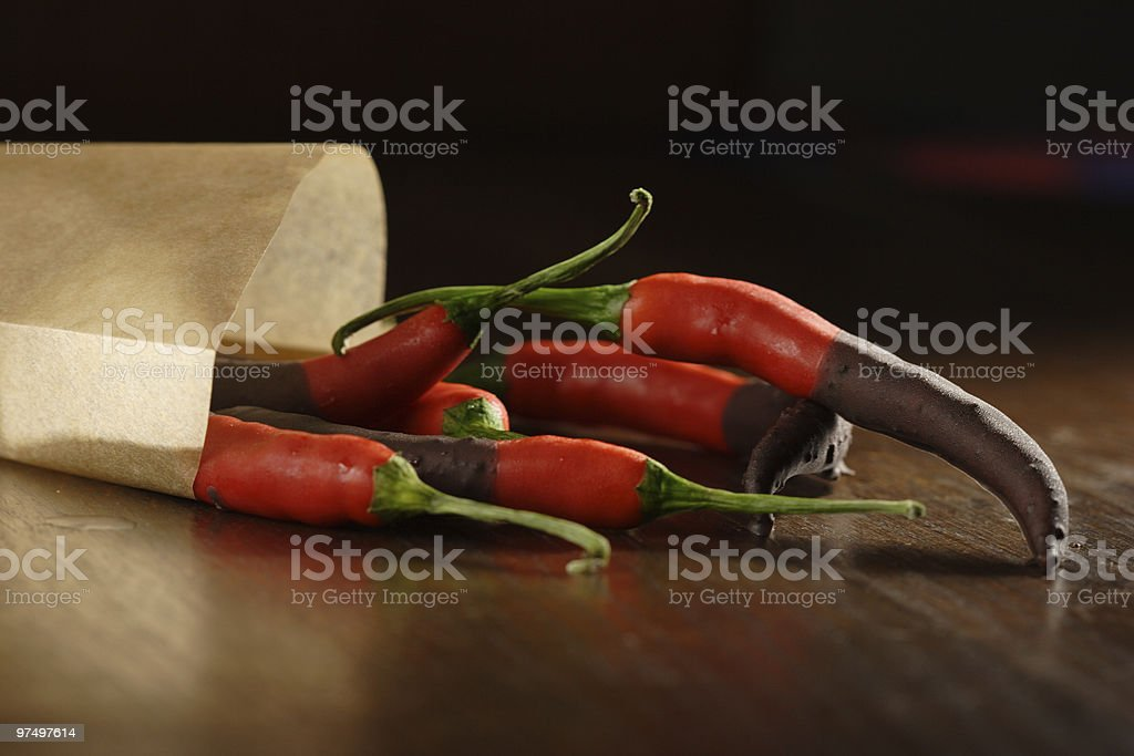 Sweet, hot and spicy stock photo