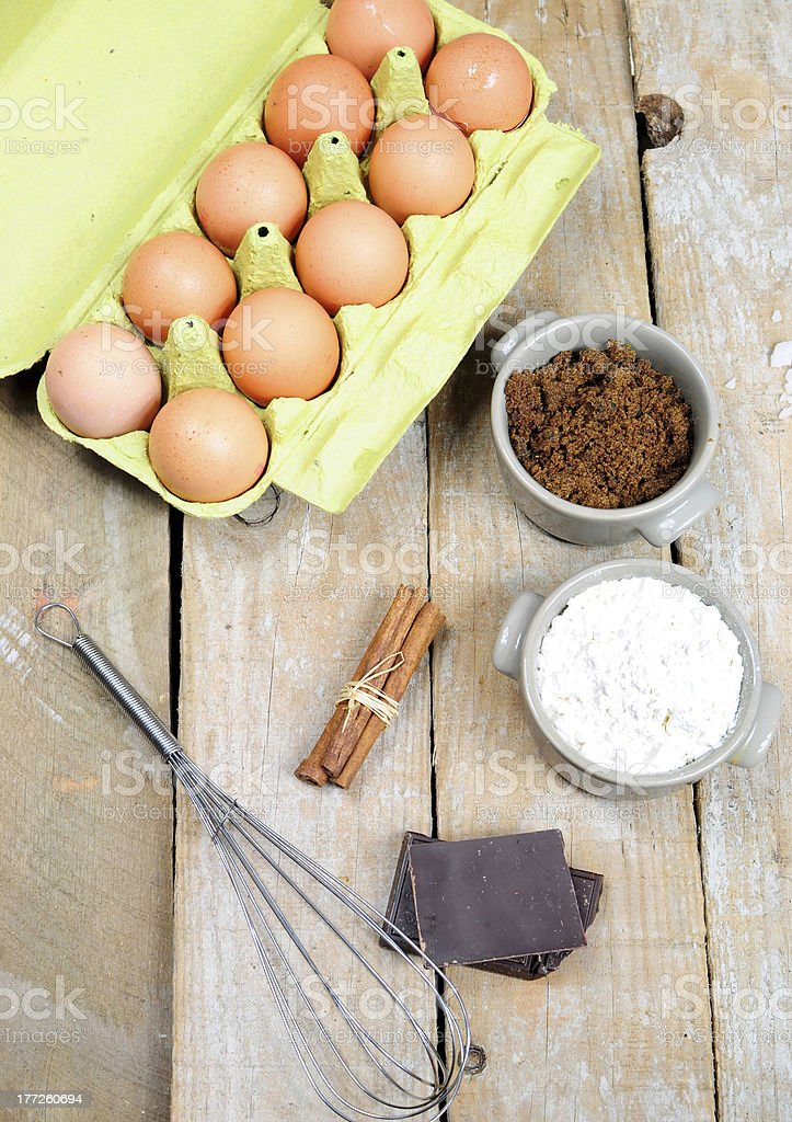 Sweet ingredients for cake royalty-free stock photo