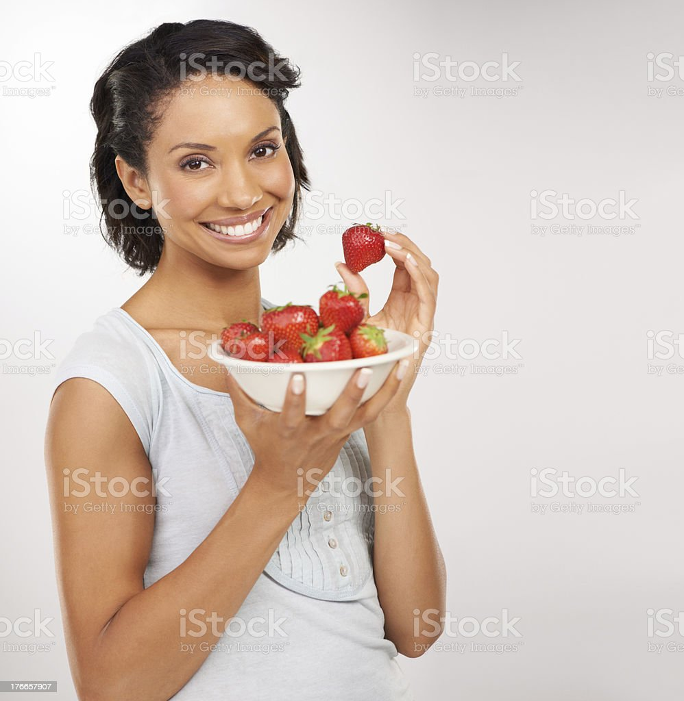 Sweet, juicy and absolutely delicious! royalty-free stock photo