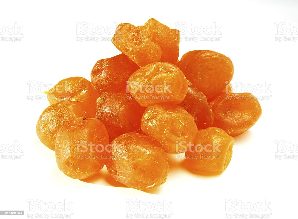 Sweet kumquat on white background royalty-free stock photo