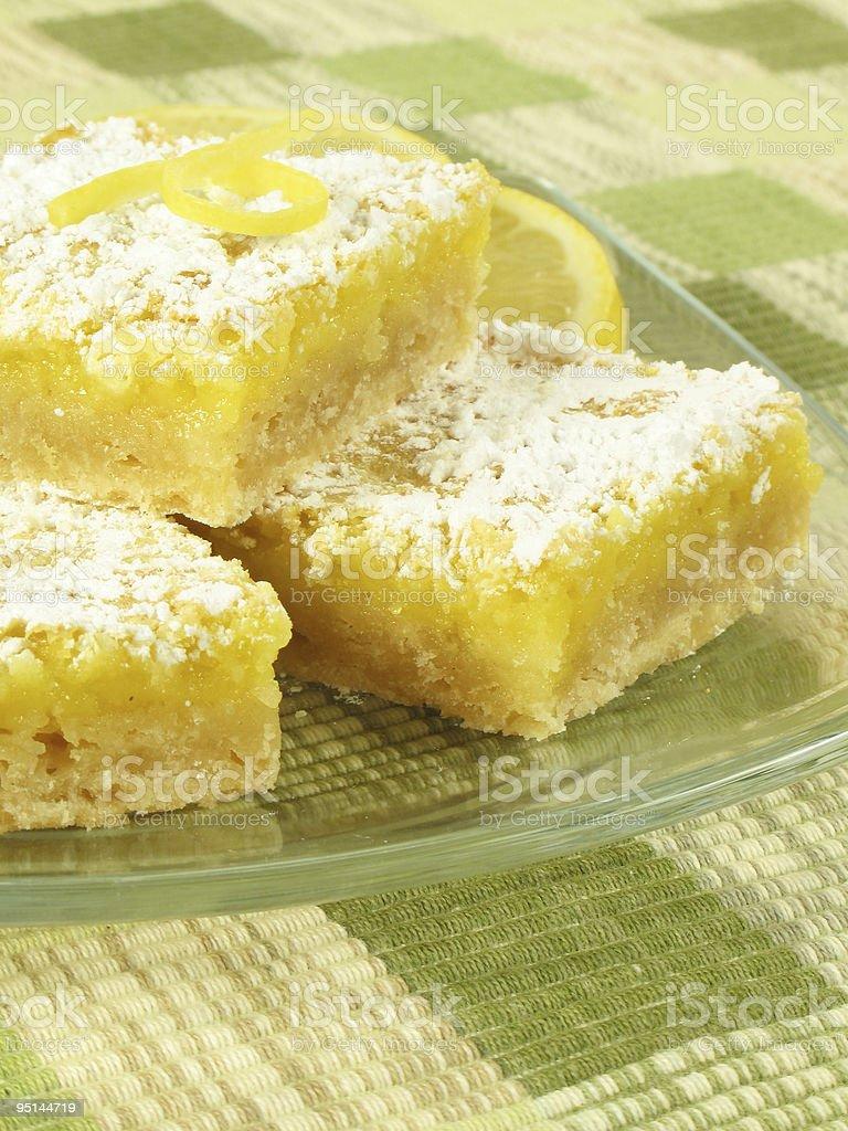 Sweet Lemon Bars royalty-free stock photo