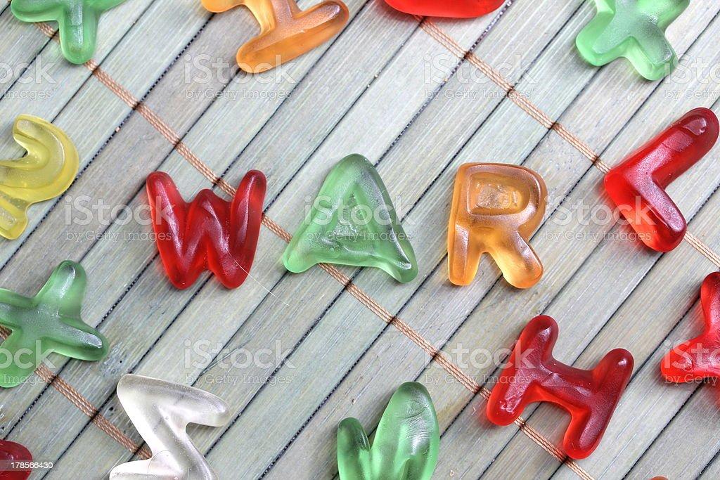 sweet letters war stock photo