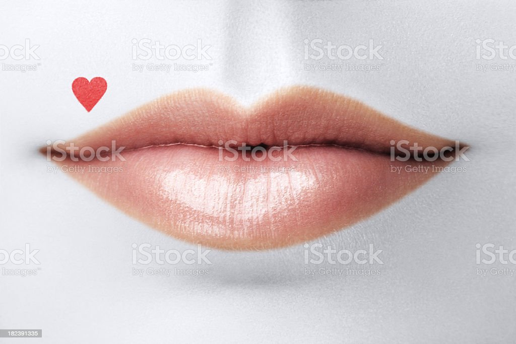 Sweet Lips For Valentine's Day royalty-free stock photo
