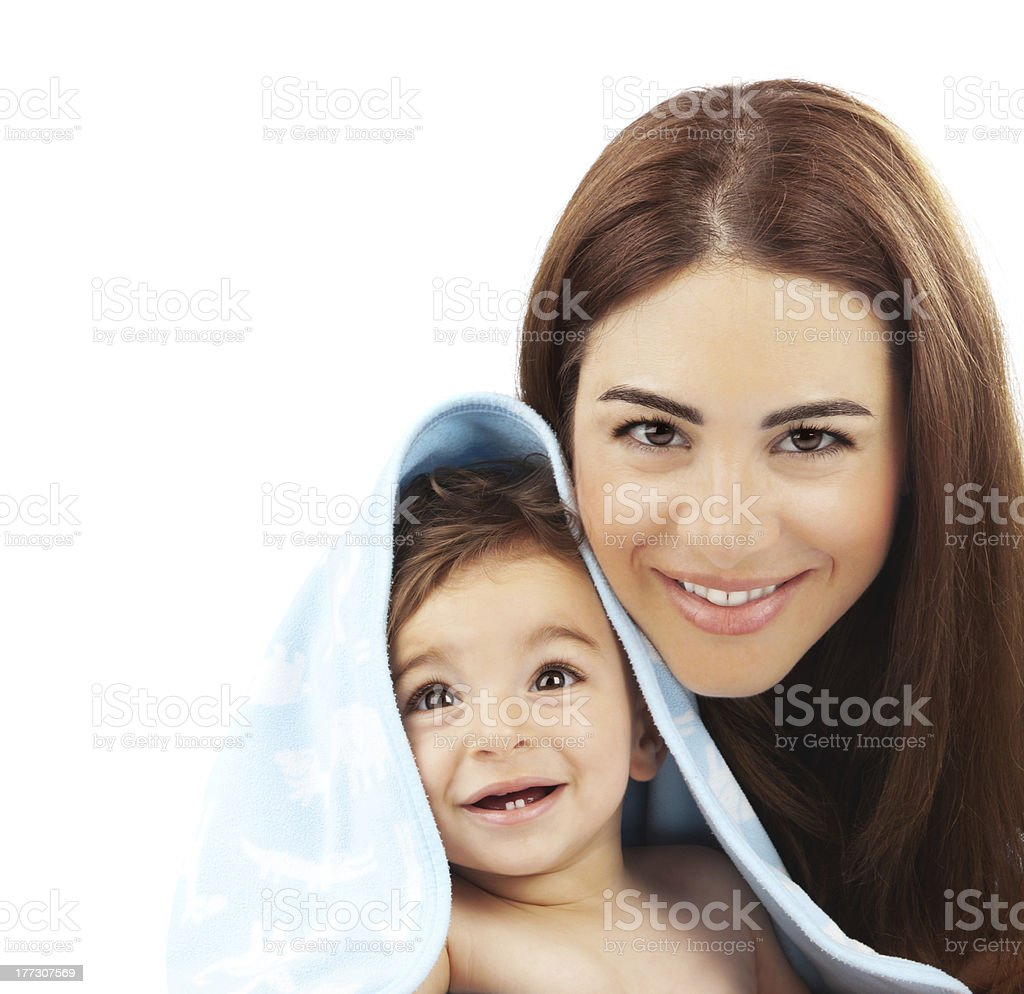 Sweet little baby with mother royalty-free stock photo