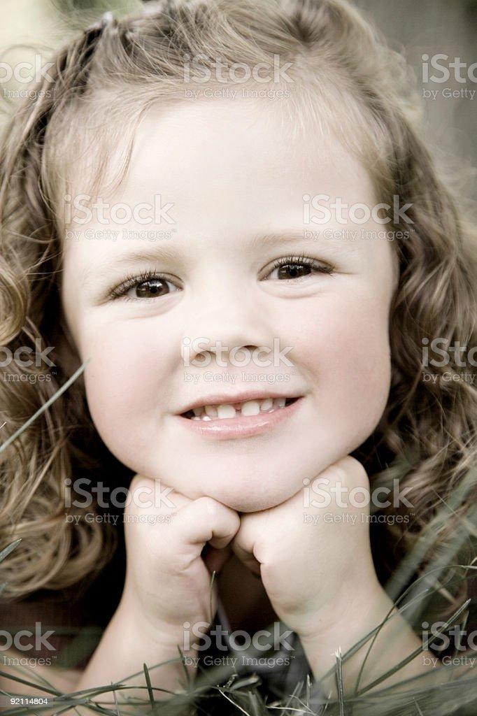 Sweet Little Girl  / Colorized stock photo