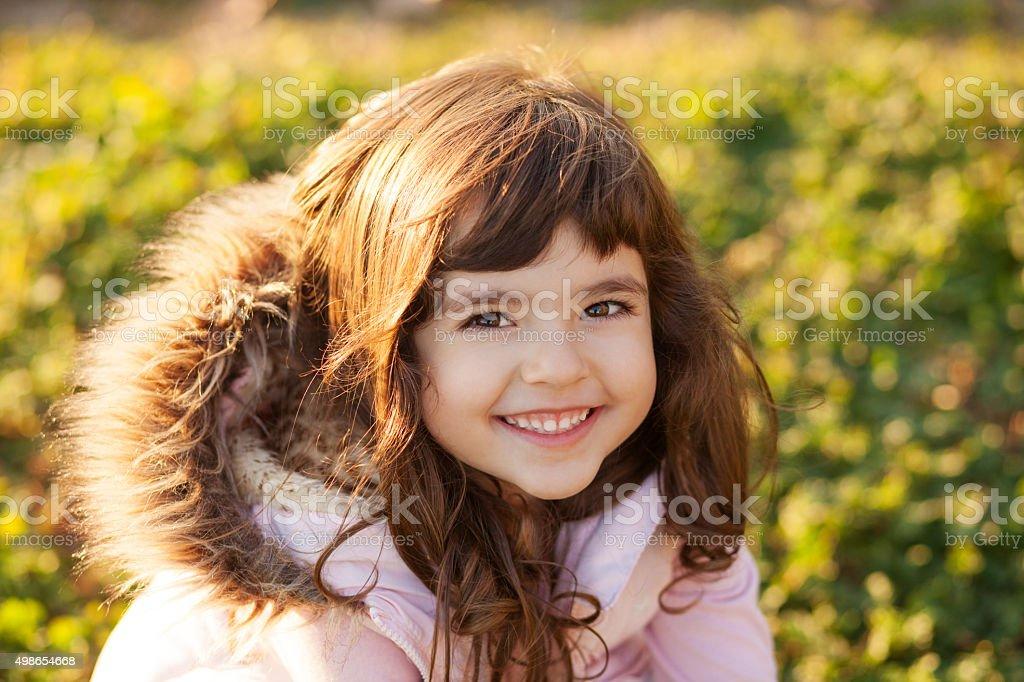Sweet little girl stock photo