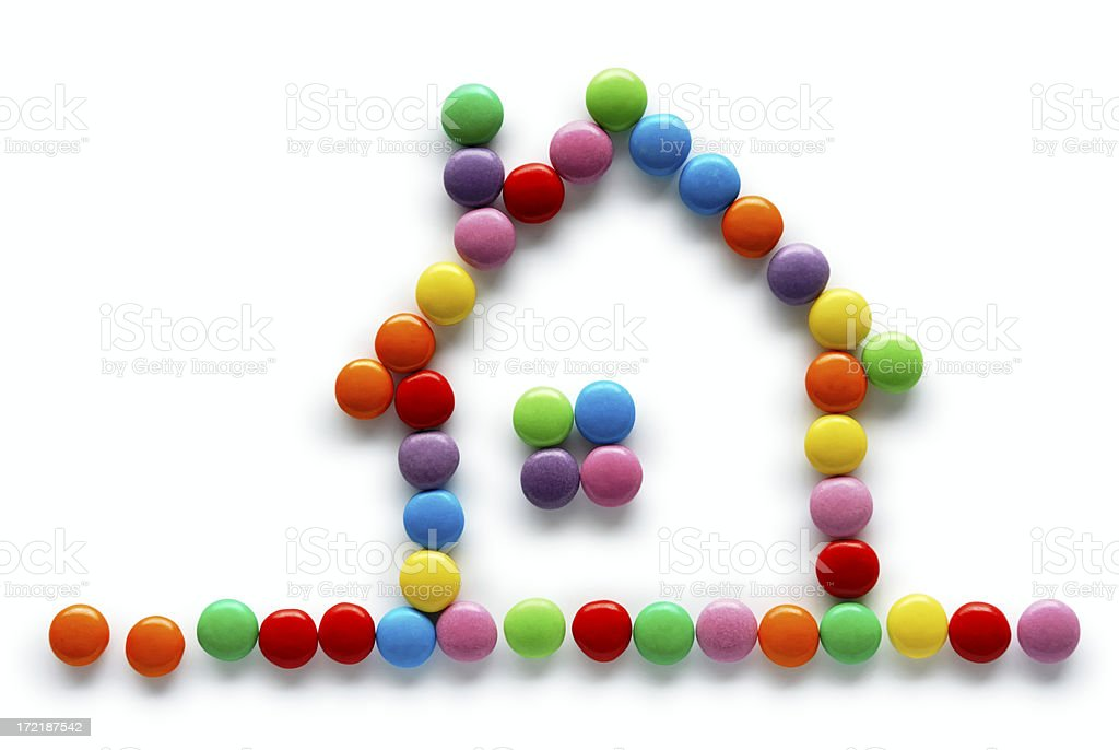 Sweet little house royalty-free stock photo