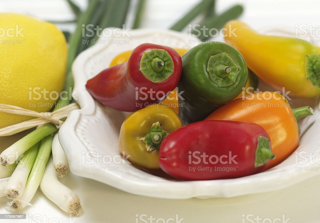 Sweet Little Peppers royalty-free stock photo