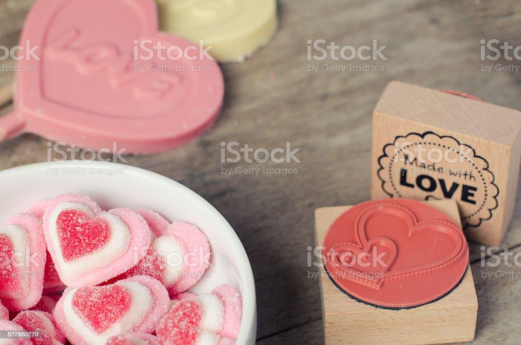 Sweet love background. stock photo