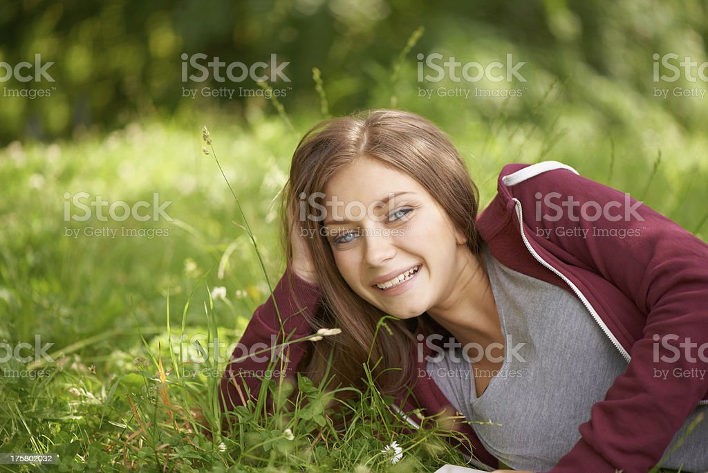 Sweet, lovely smile royalty-free stock photo