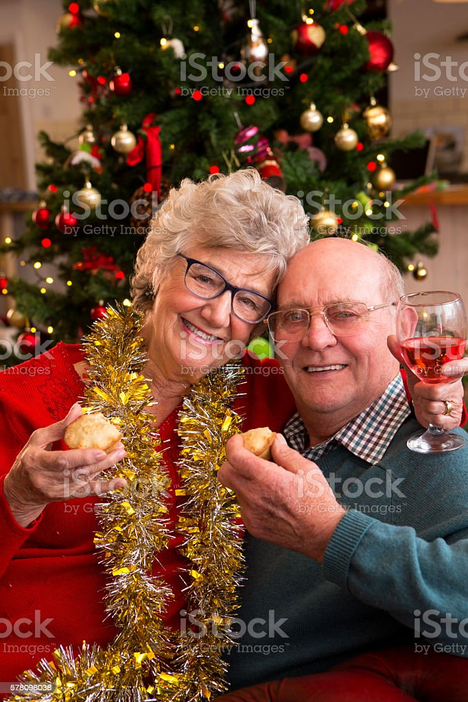 Sweet Mince Pies at Christmas stock photo