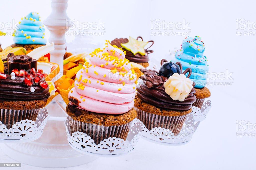 Sweet muffins stock photo