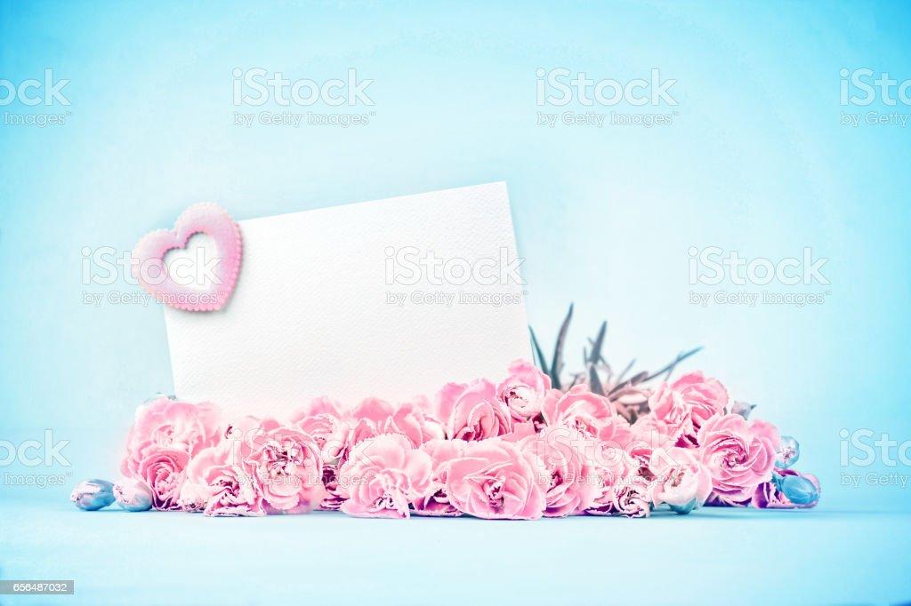 sweet pastel of beautiful blooming carnation flowers stock photo