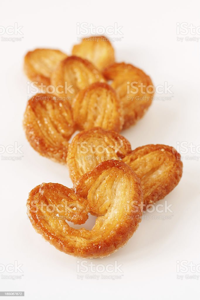 sweet pastry palmiers stock photo