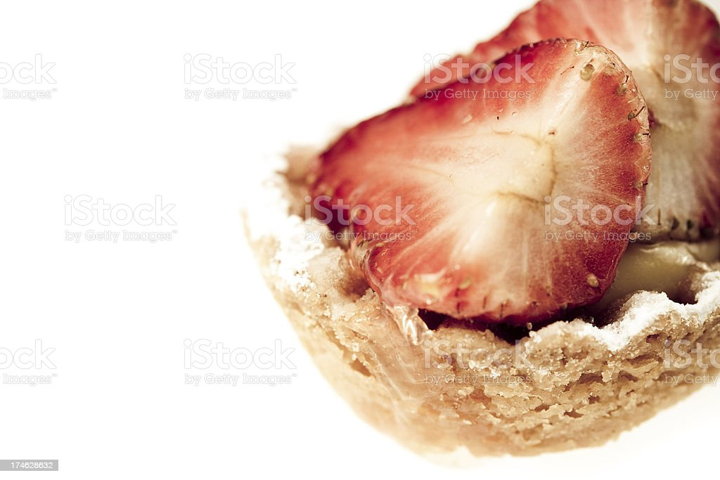 Sweet pastry with strawberries royalty-free stock photo
