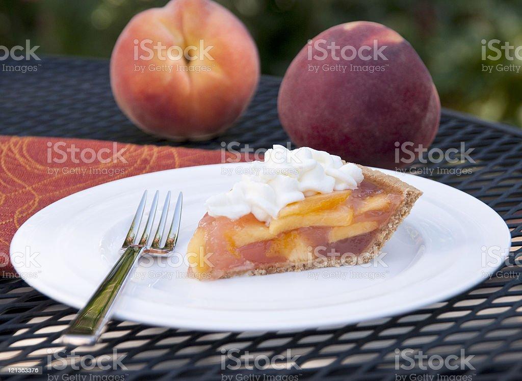 Sweet Peach Pie stock photo