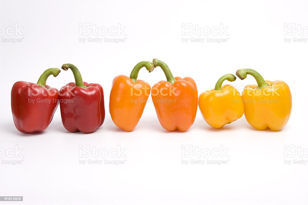 Sweet peppers. royalty-free stock photo