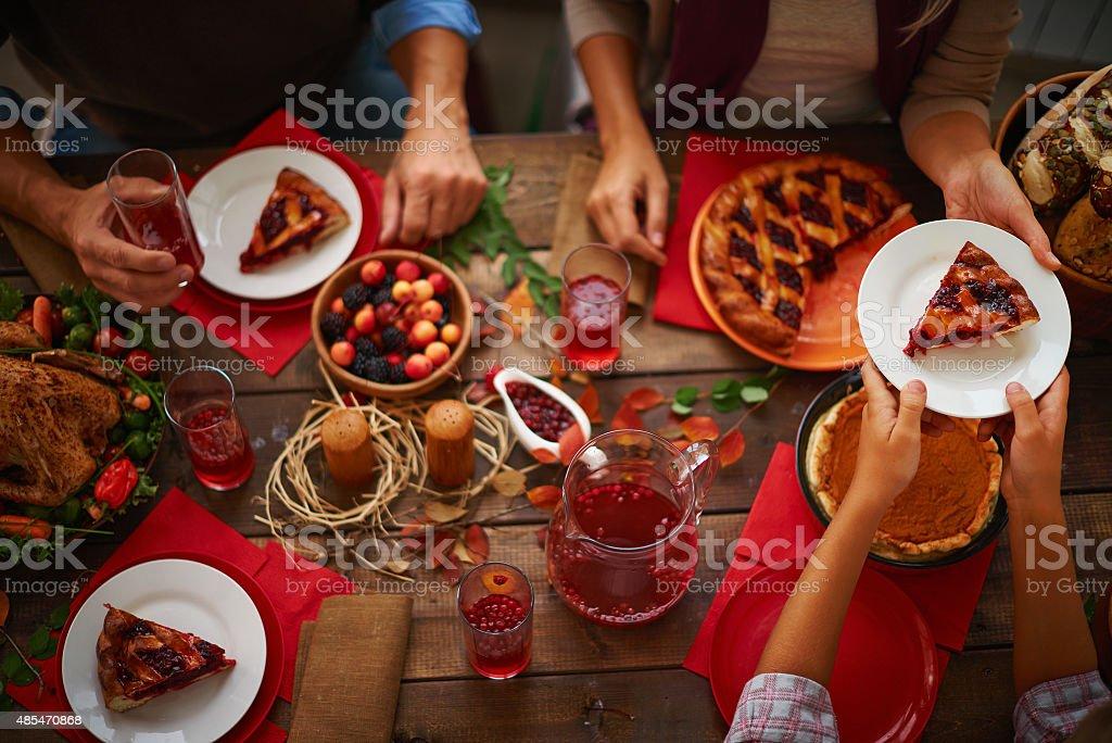 Sweet pie stock photo