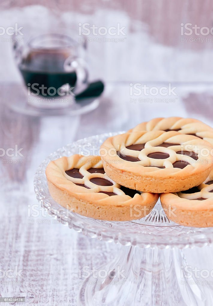 Sweet Pie Tarts (Crostata) stock photo