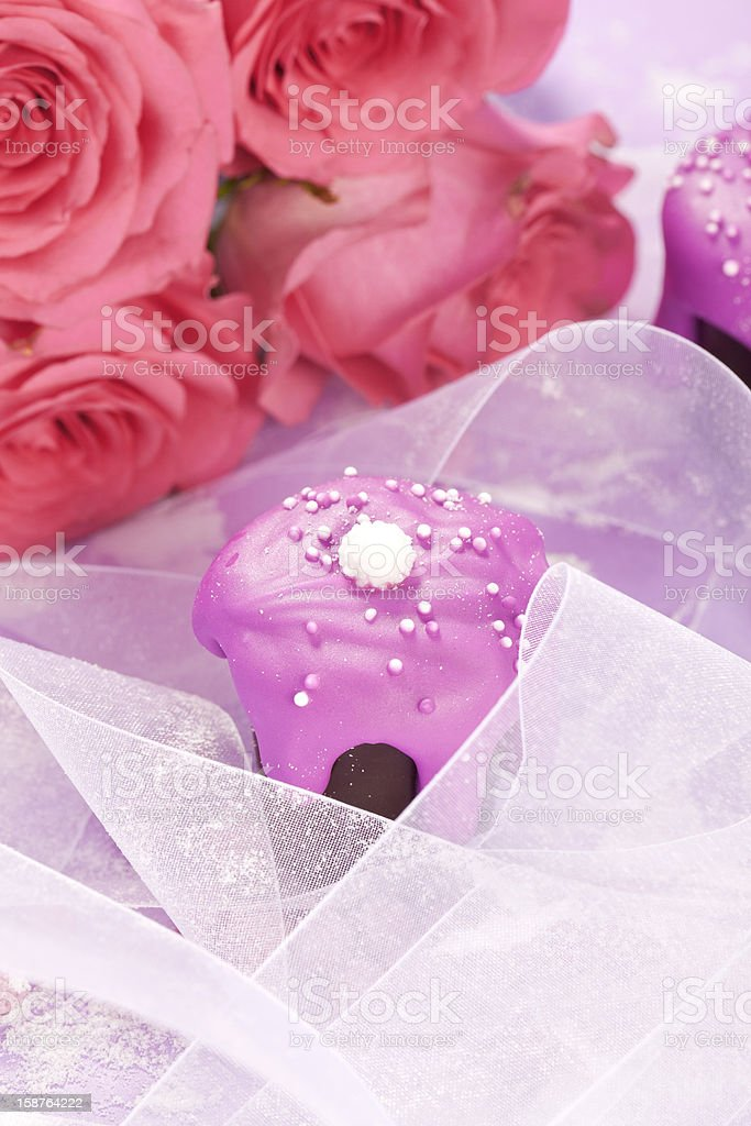 sweet pink wedding chocolate royalty-free stock photo