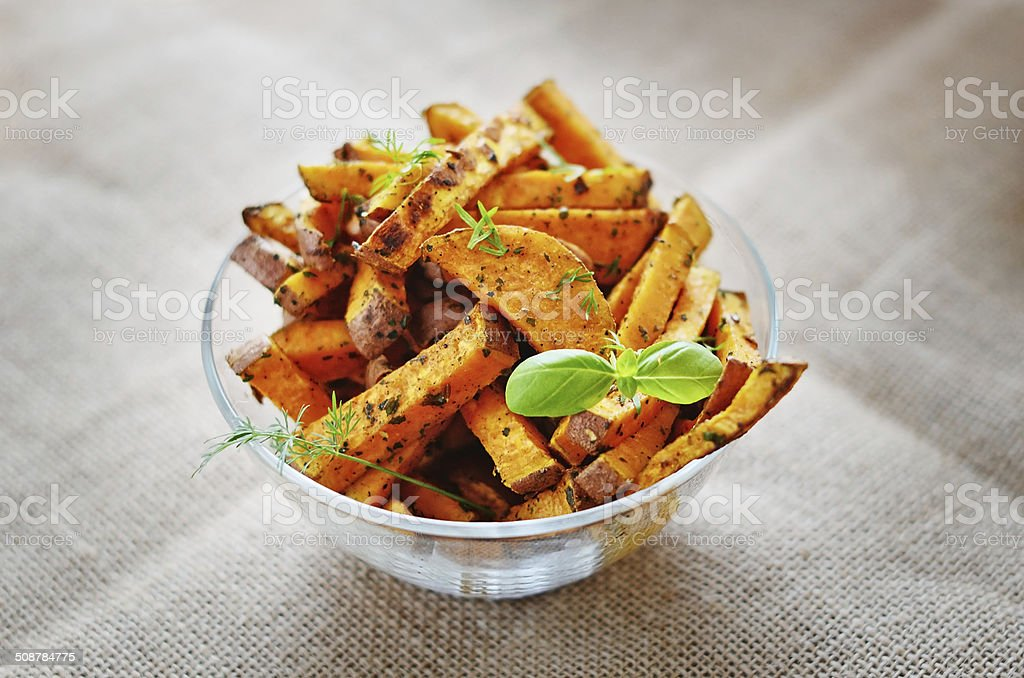 Sweet potato baked stock photo
