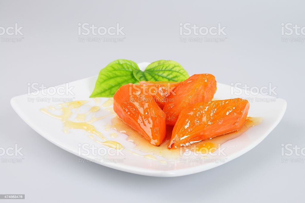 Sweet potato, boiled sugar stock photo