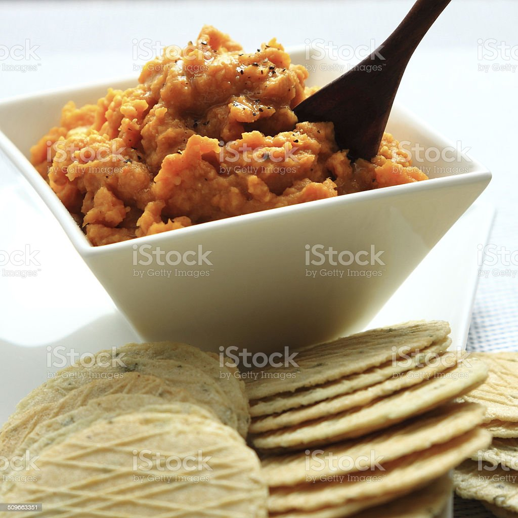 Sweet Potato (Kumara) Dip stock photo
