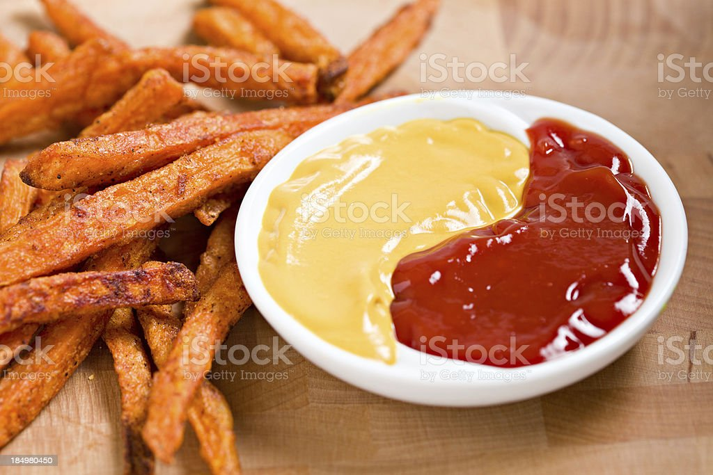 Sweet Potato Fries And Dip stock photo