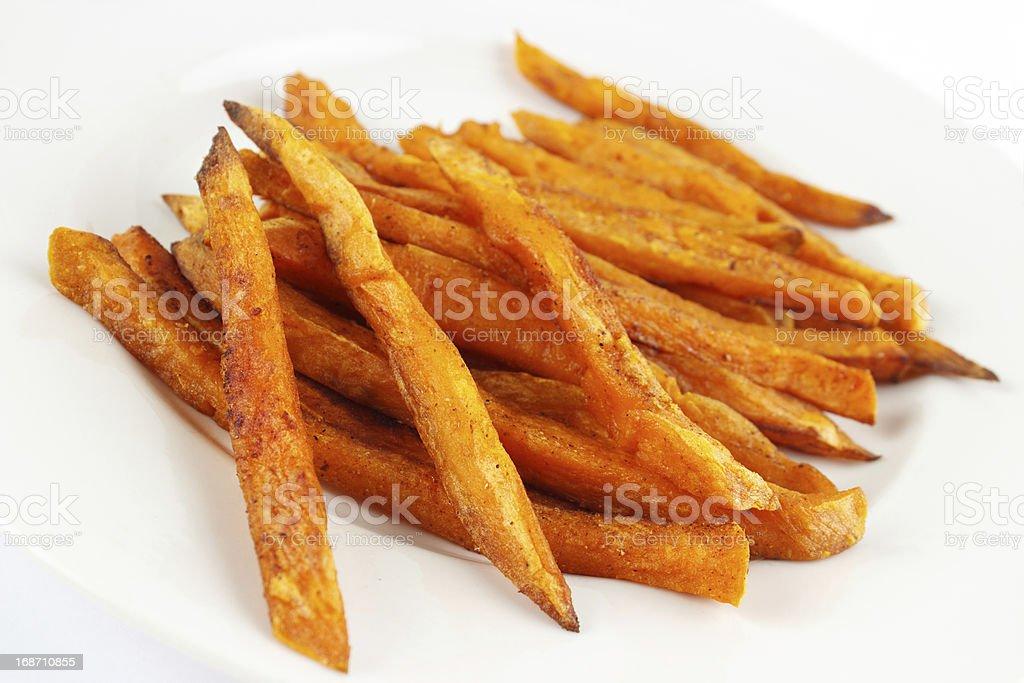 Sweet potato fries royalty-free stock photo