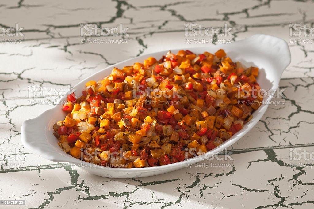 Sweet Potato Hash. stock photo