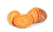 Sweet potato isolated on the white background