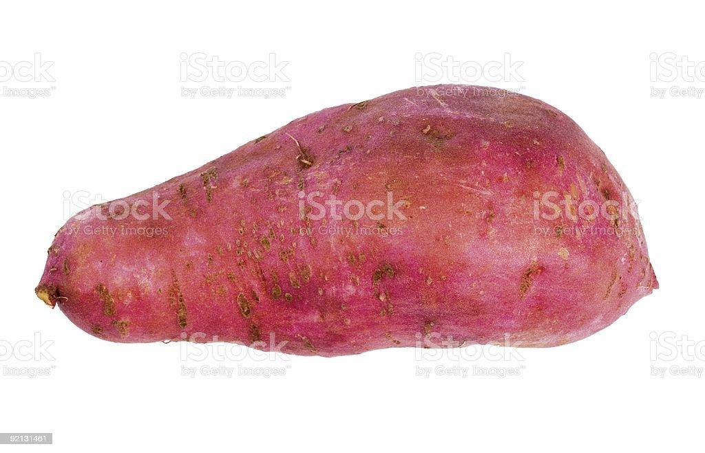 sweet potato isolated on white royalty-free stock photo