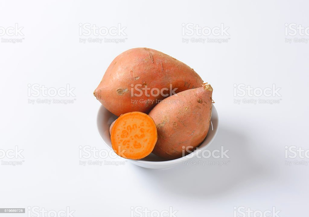 Sweet potato roots stock photo