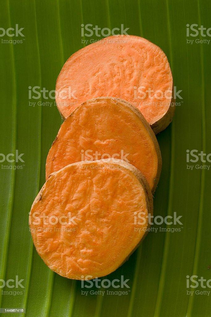 Sweet Potato Slices royalty-free stock photo