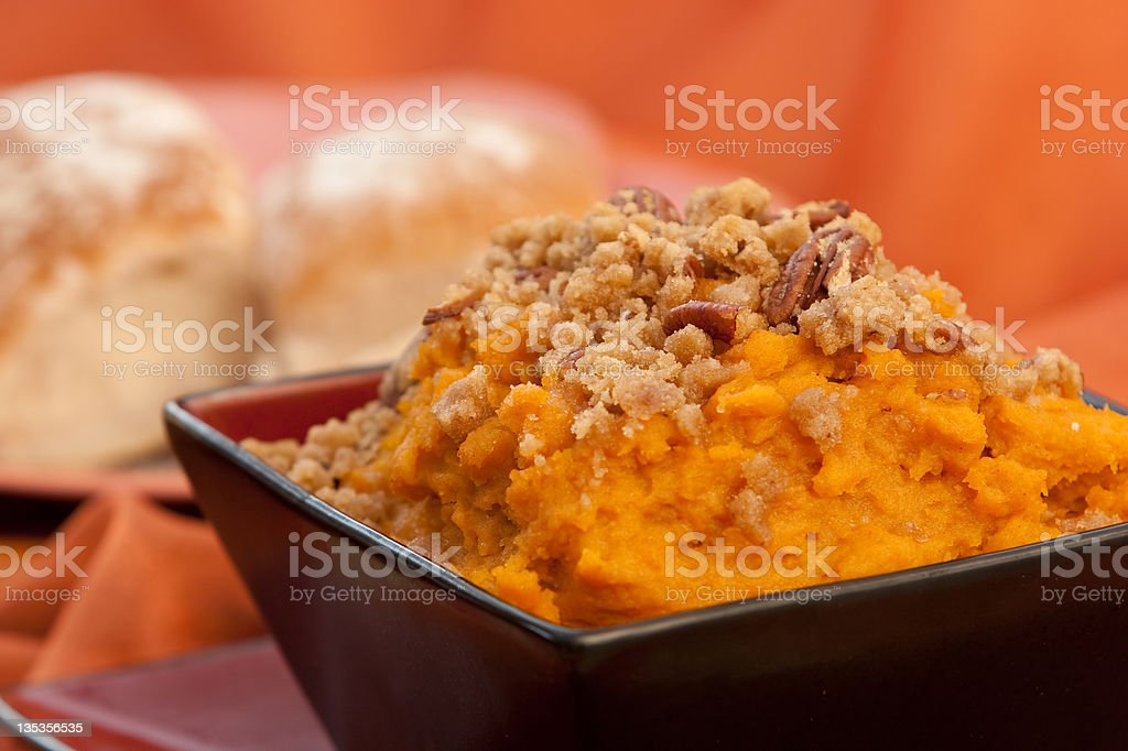 Sweet potatoe Souffle stock photo