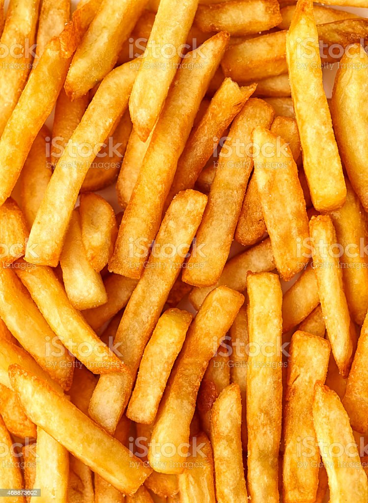 Sweet potatoes fries background stock photo