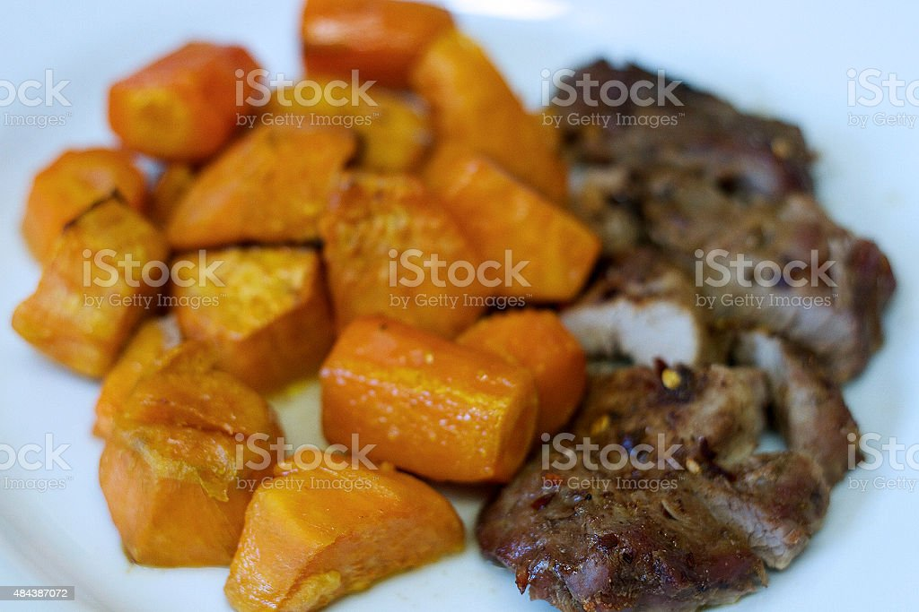 Sweet Potatoes Meal stock photo