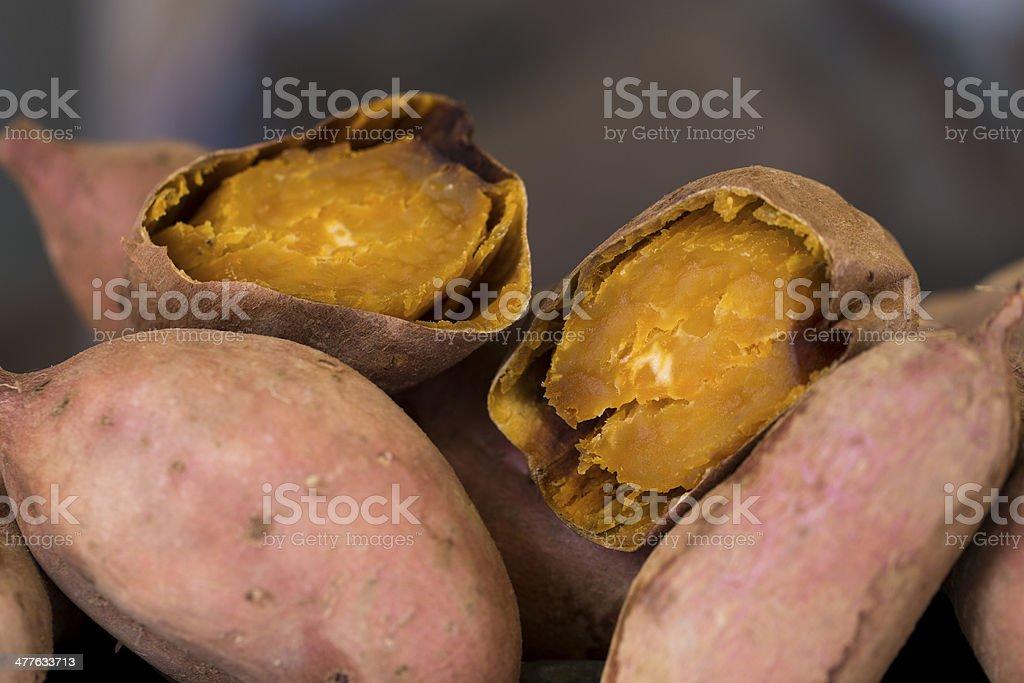 Sweet Potatoes of Okinawa stock photo