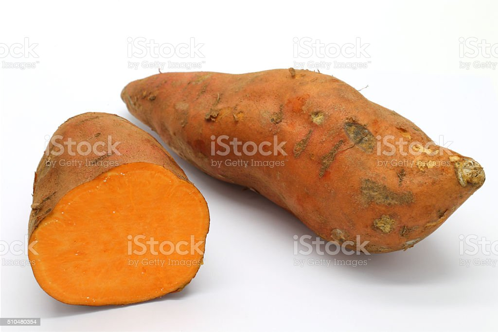 Sweet potatoes stock photo