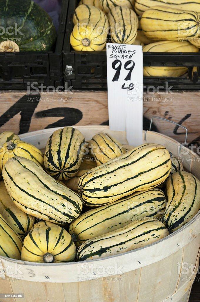 Sweet Potatoes squash stock photo